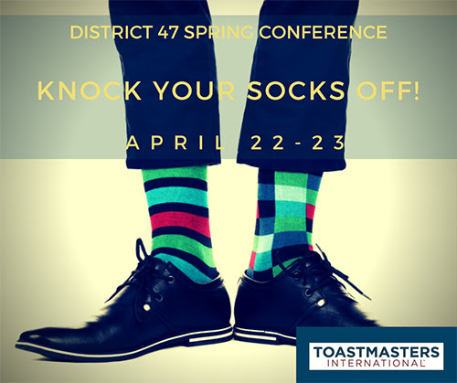 Toastmasters Spring Conference Knock Your Socks Off